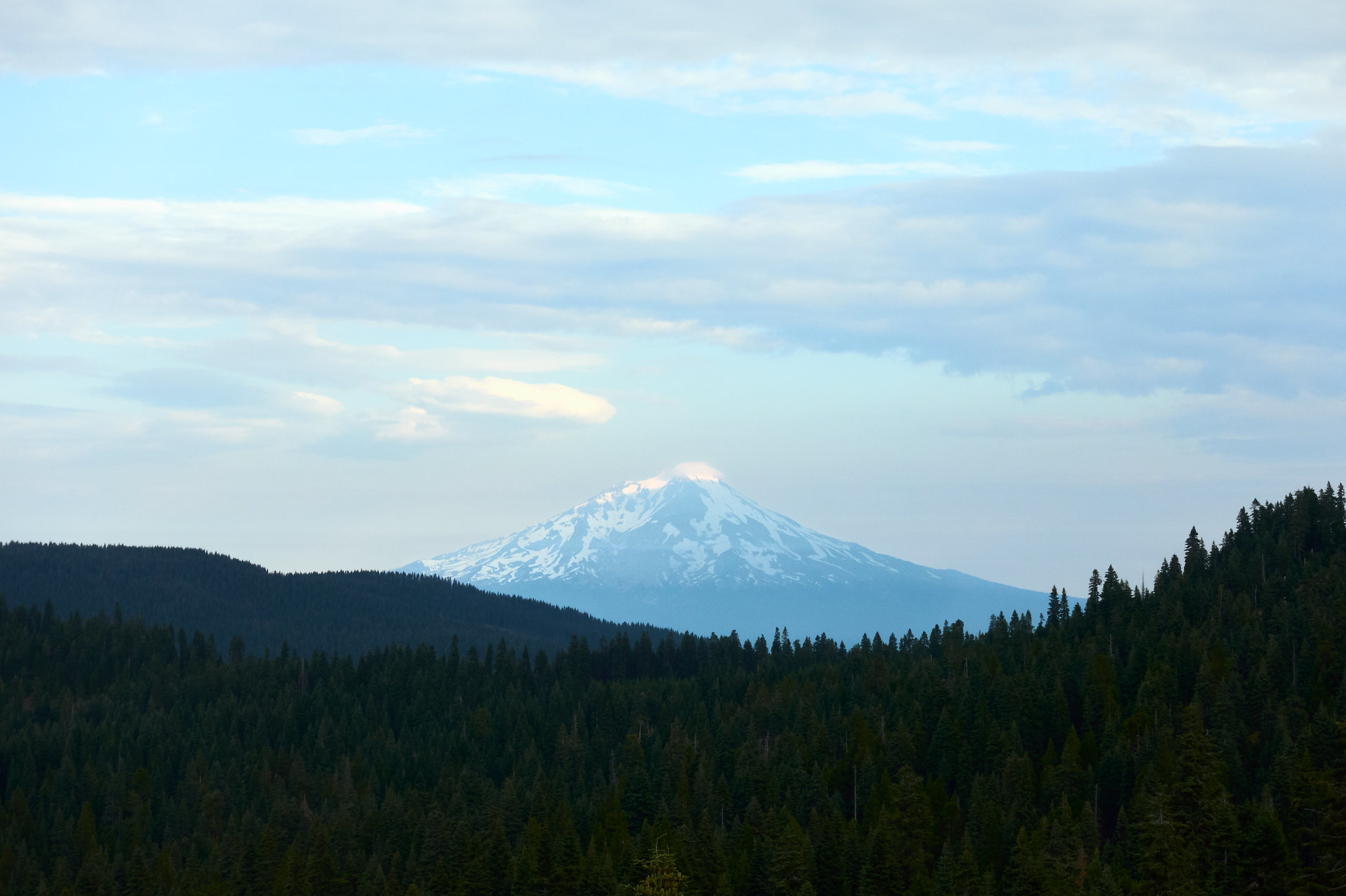 We keep seeing Mt. Shasta every now and then.