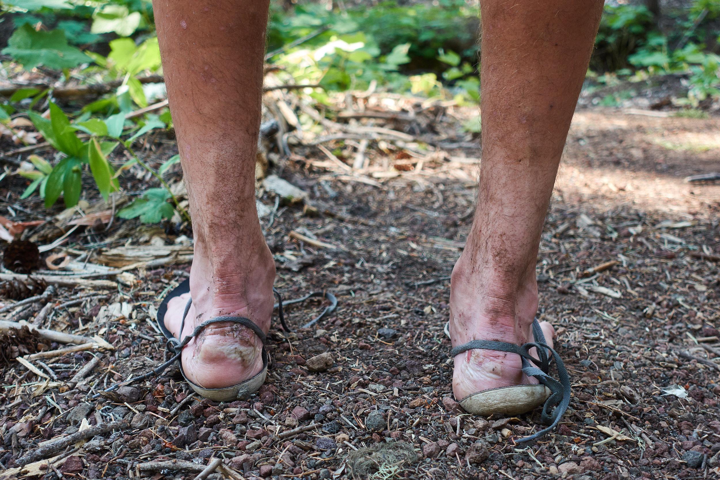 Sam's feet.