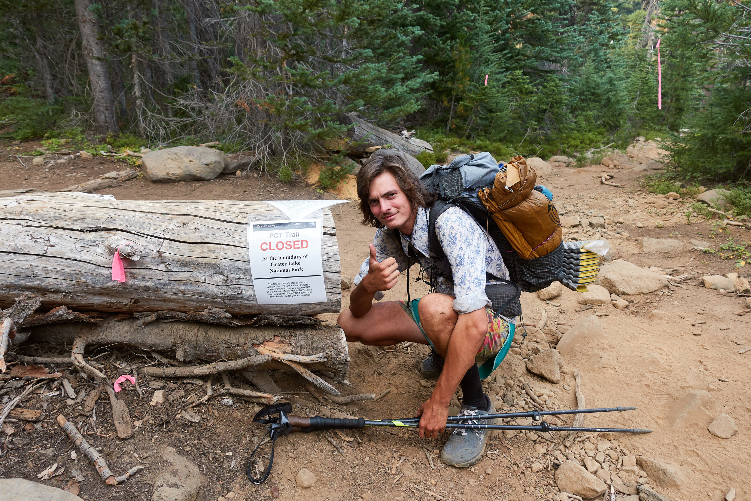 PCT trail closed.