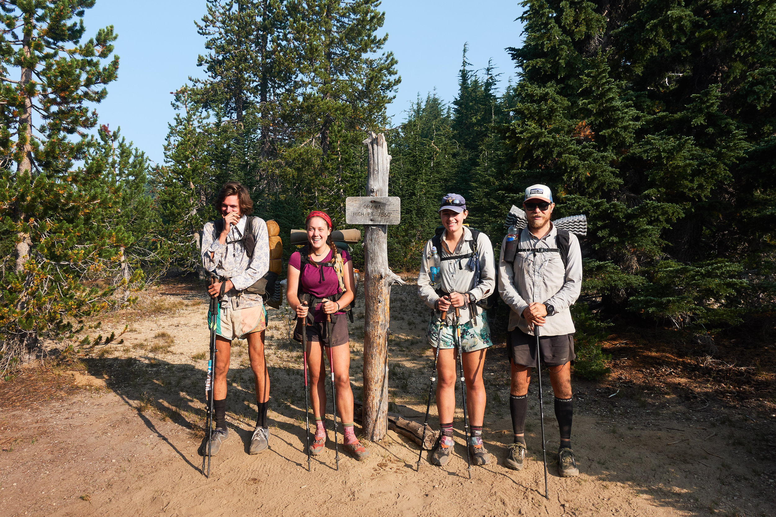 At the highest point of the PCT in Oregon and Washington.