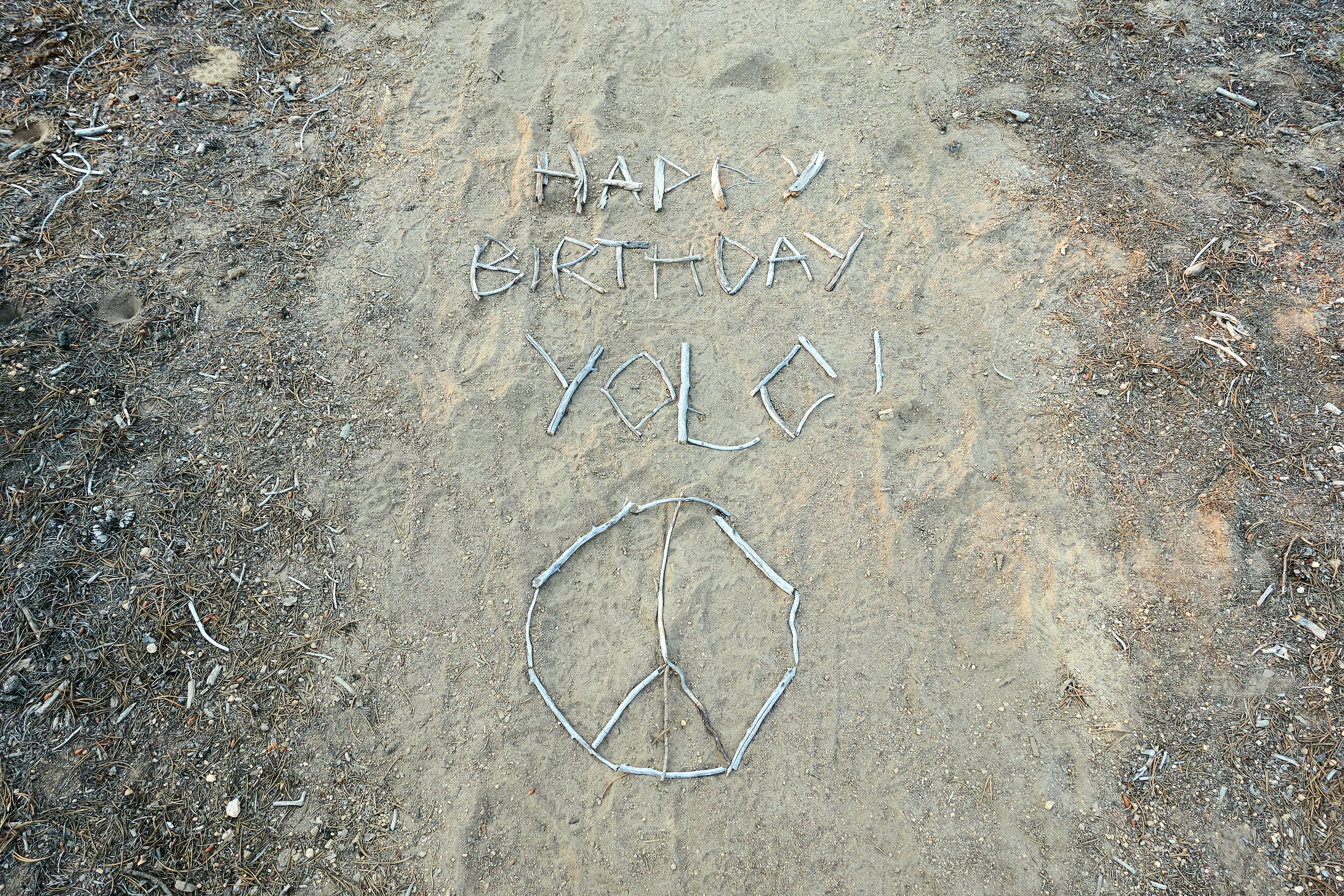 Someone left a message on the trail.