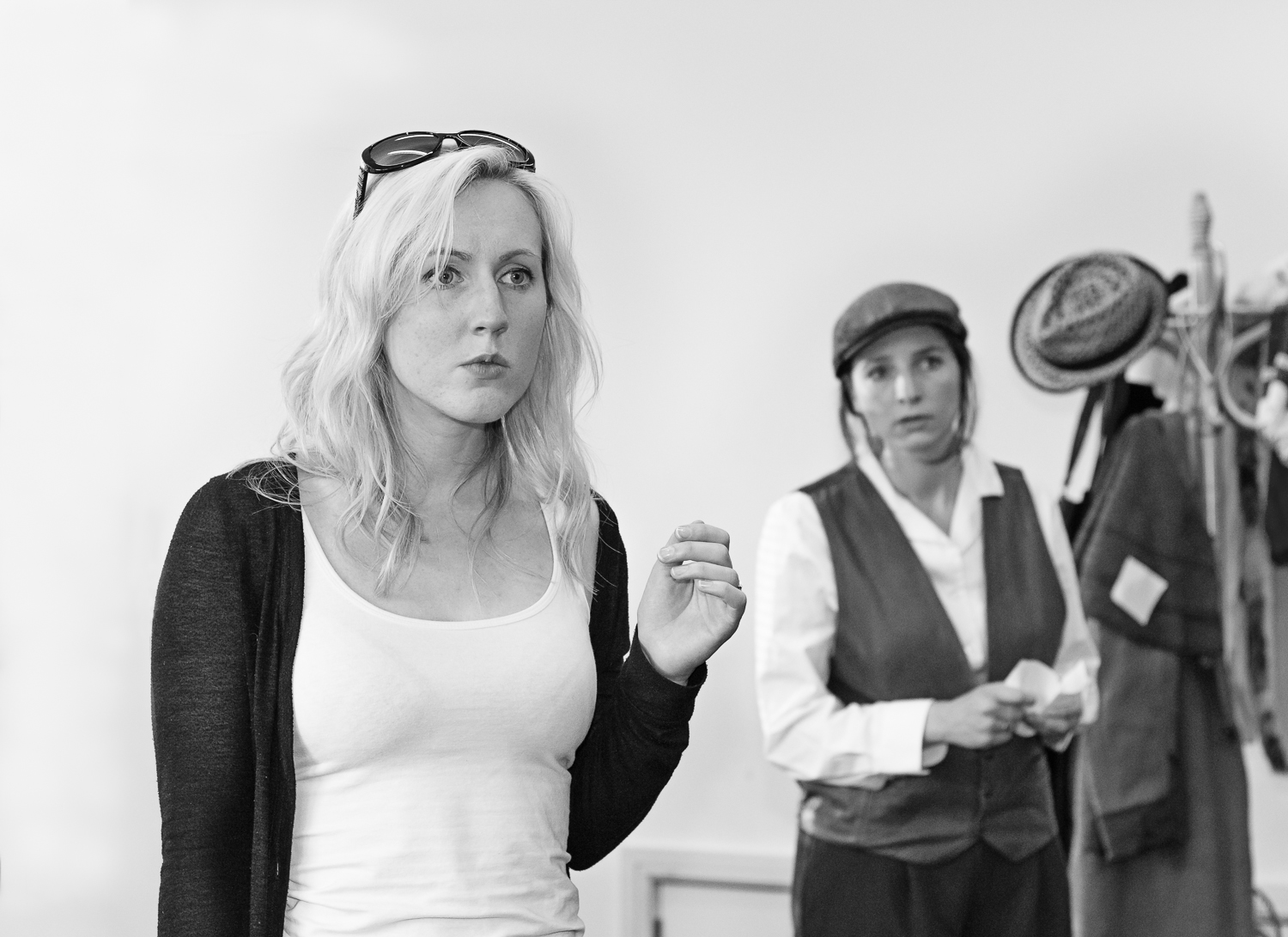 Ripped Script theatre company actresses in full dress rehearsals at Salisbury Playhouse