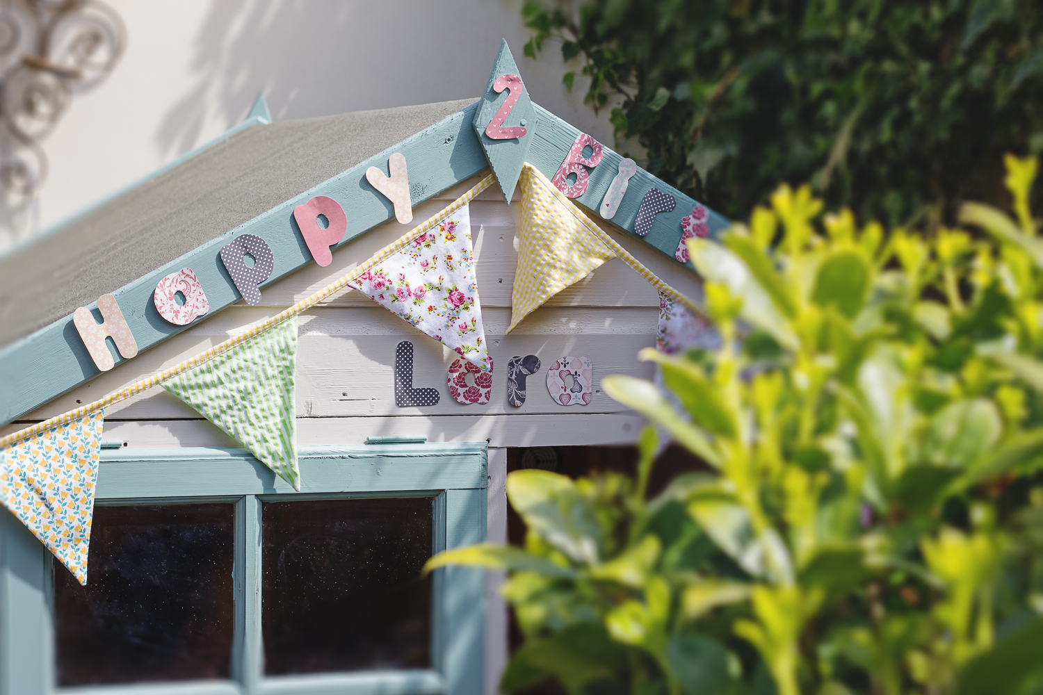 A magical birthday present in the form of a beautiful wendy house for a two year old girl