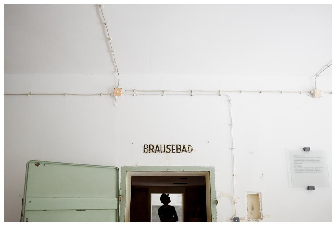 """Brausebad """"Showers"""", Dachau, Germany"""