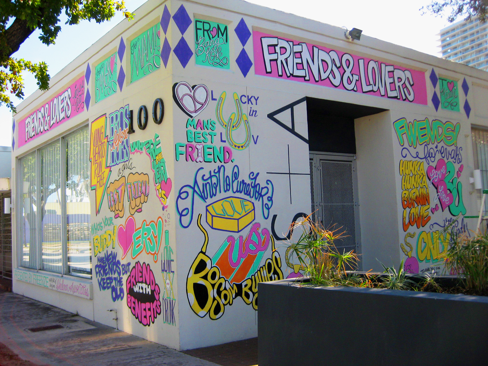 FRIENDS AND LOVERS- mural for Shulman + Associates architecture