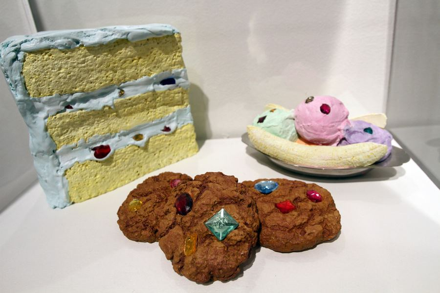 DESSERTS- plaster and acrylic paint