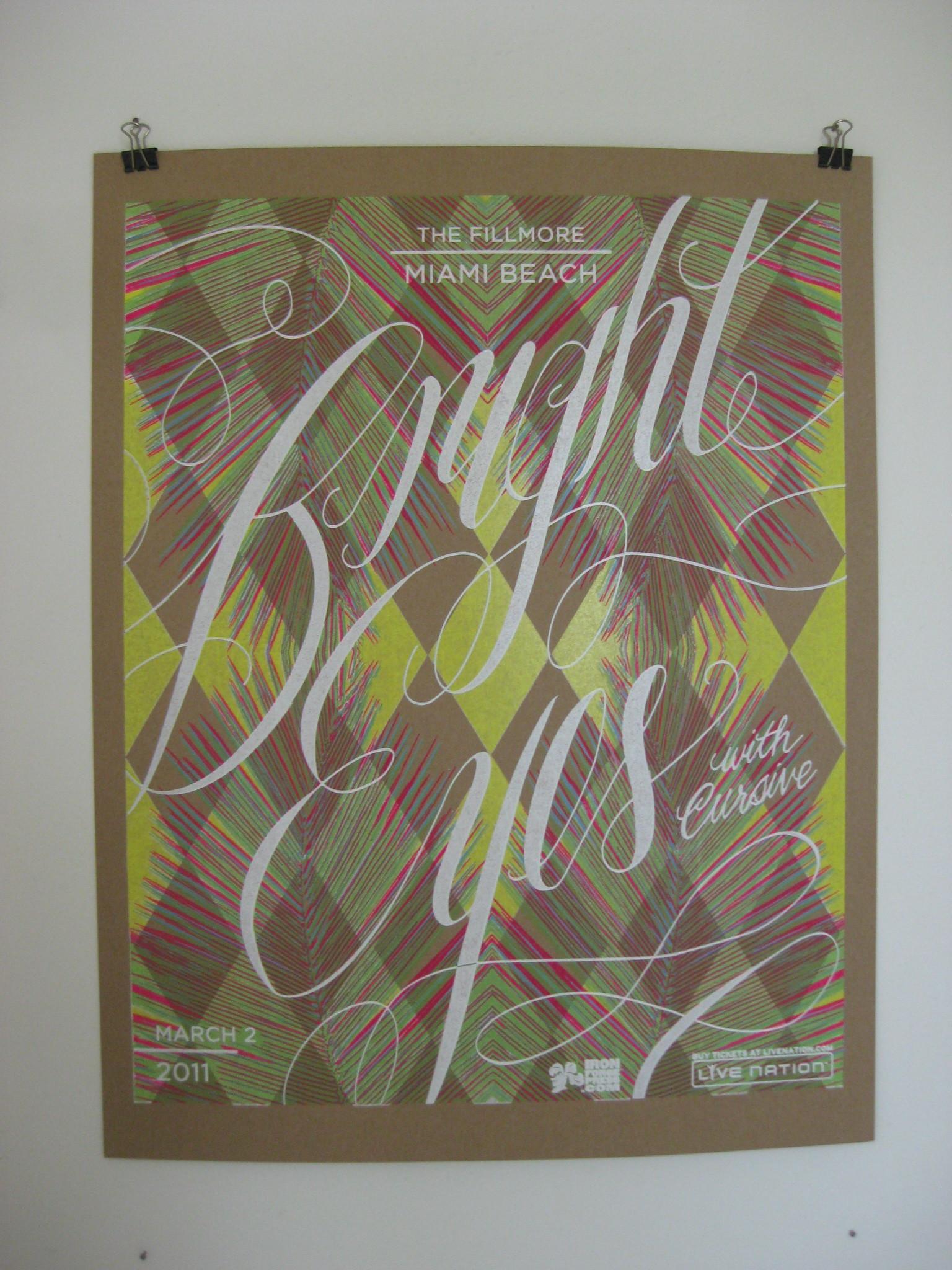 Bright Eyes gig poster
