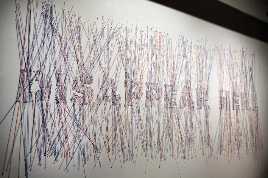 Disappear here | 18ft x 8ft | string and nail