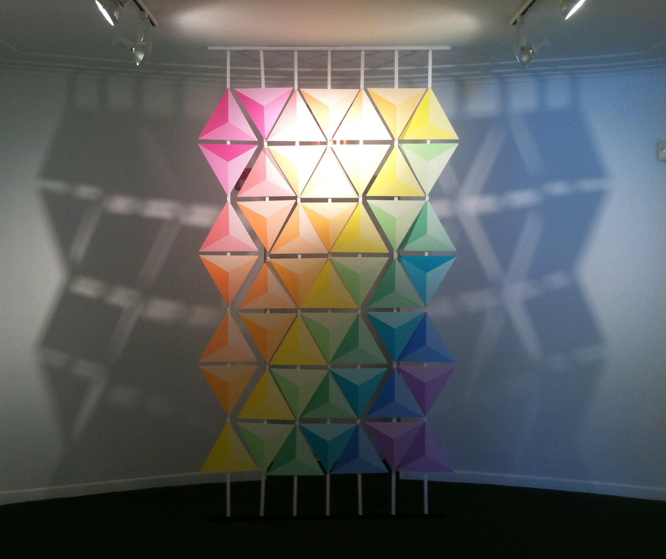 PR- installation, acrylic on pvc
