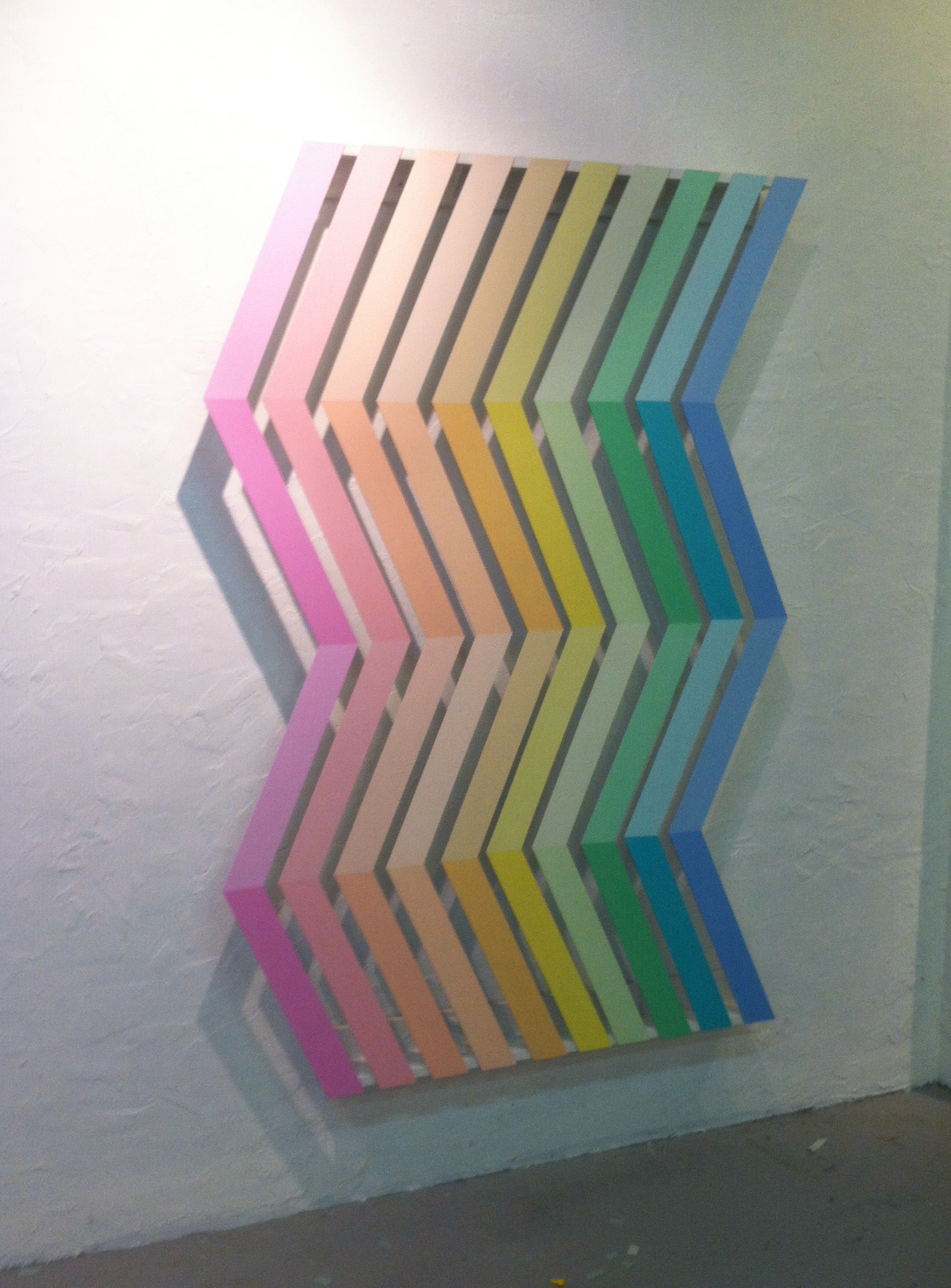 VORTEX- installation, acrylic on pvc