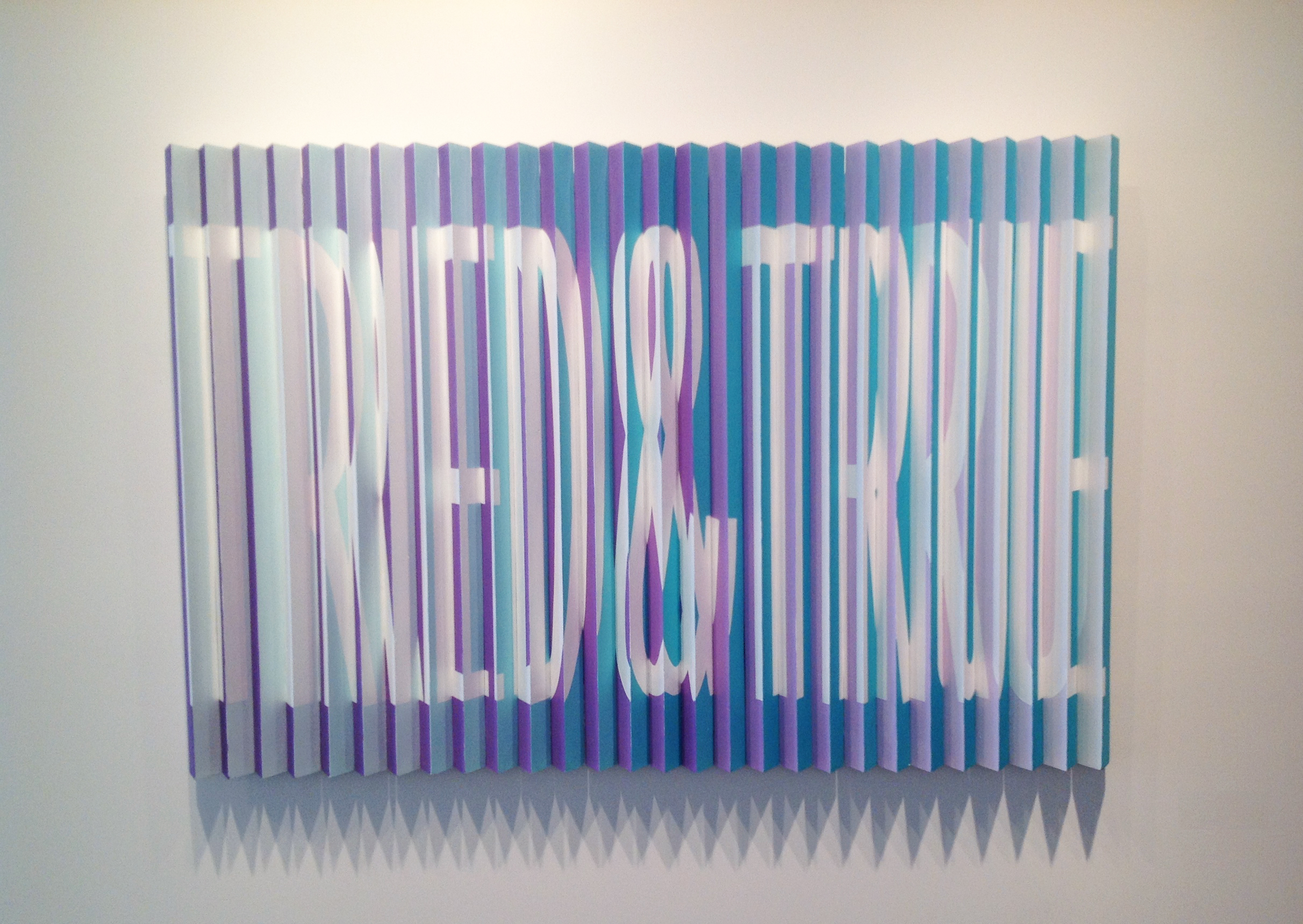 TRIED & TRUE / TIRED & THRU | Acrylic on Wood | 3ft x 4ft | 2013