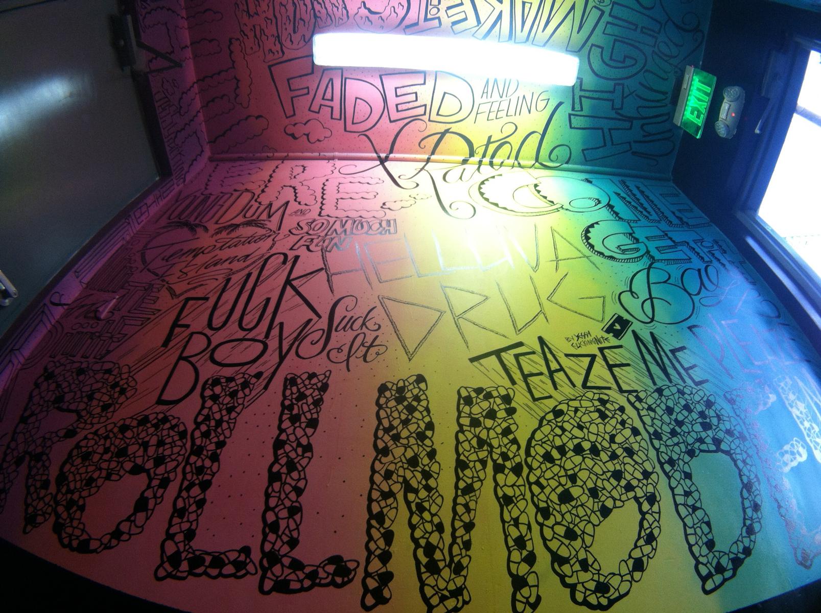 HELLUVA DRUG (detail)- mural at Radio Bar South Beach