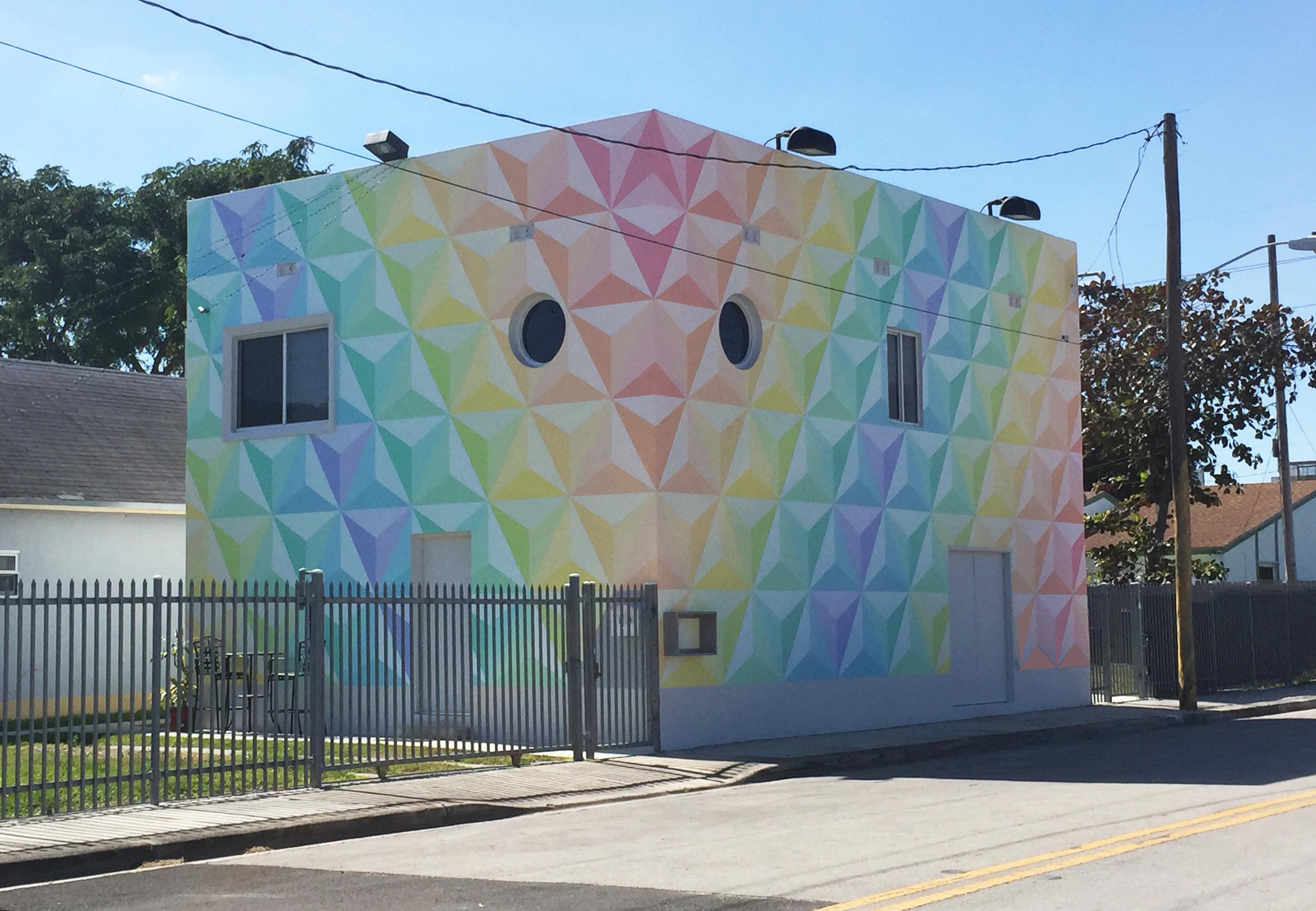 PRISM- exterior mural on Jessy Nite's Studio