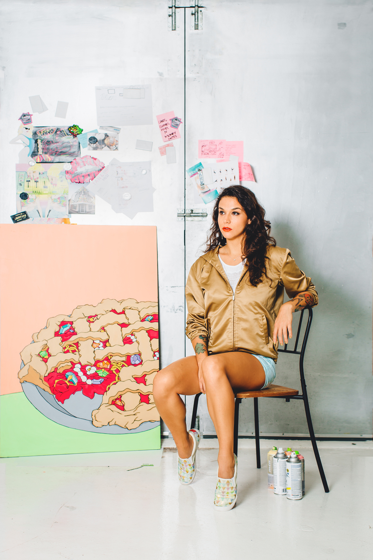 Jessy in her studio by @ByranAllanLamb
