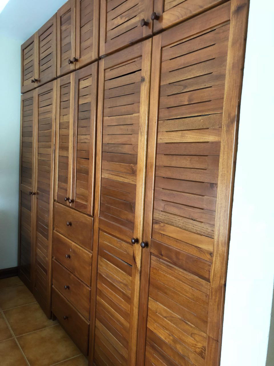 Stunning wood closets