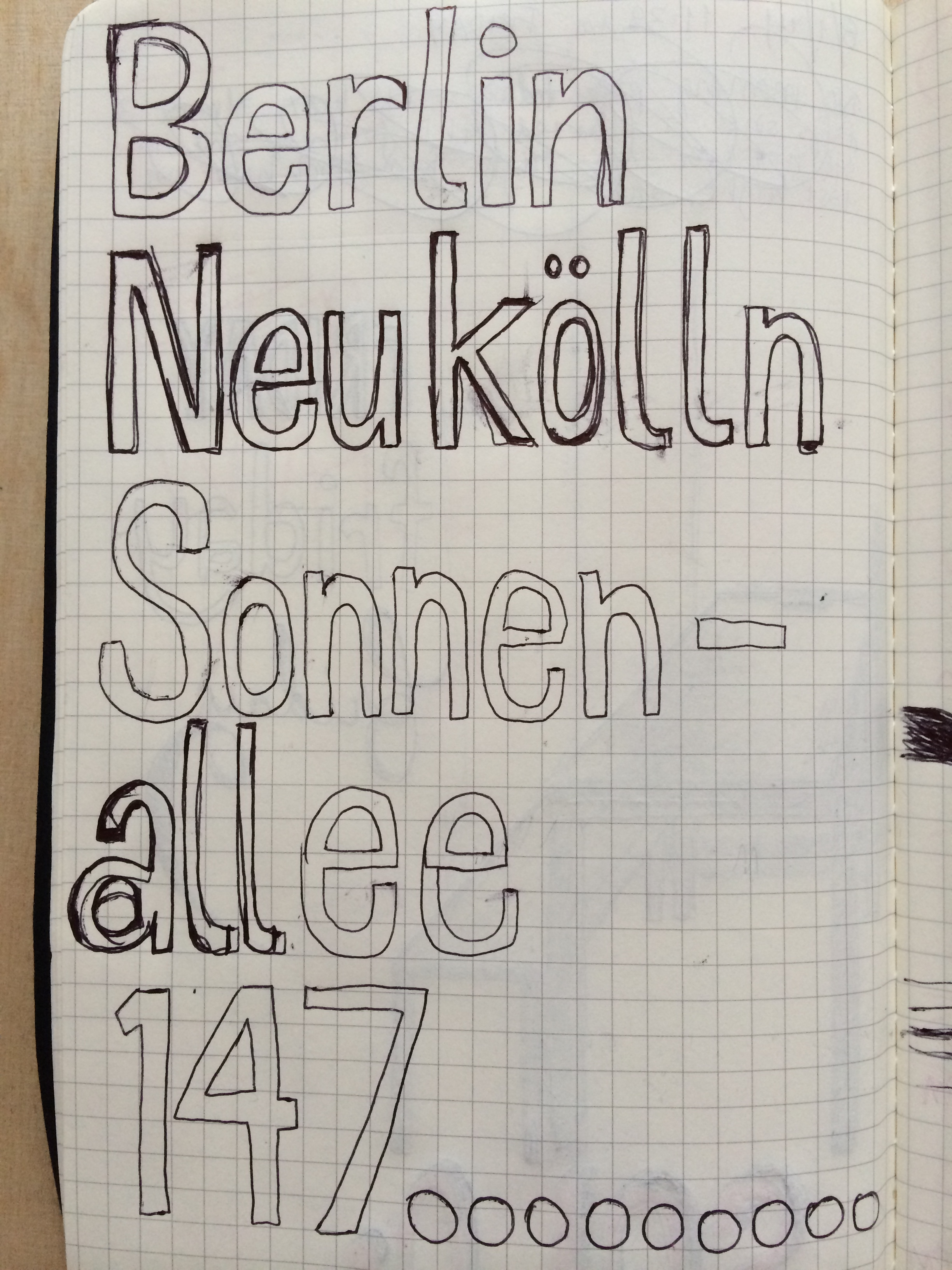 8/1/14  Trying to copy the lettering on the U-bahn sign