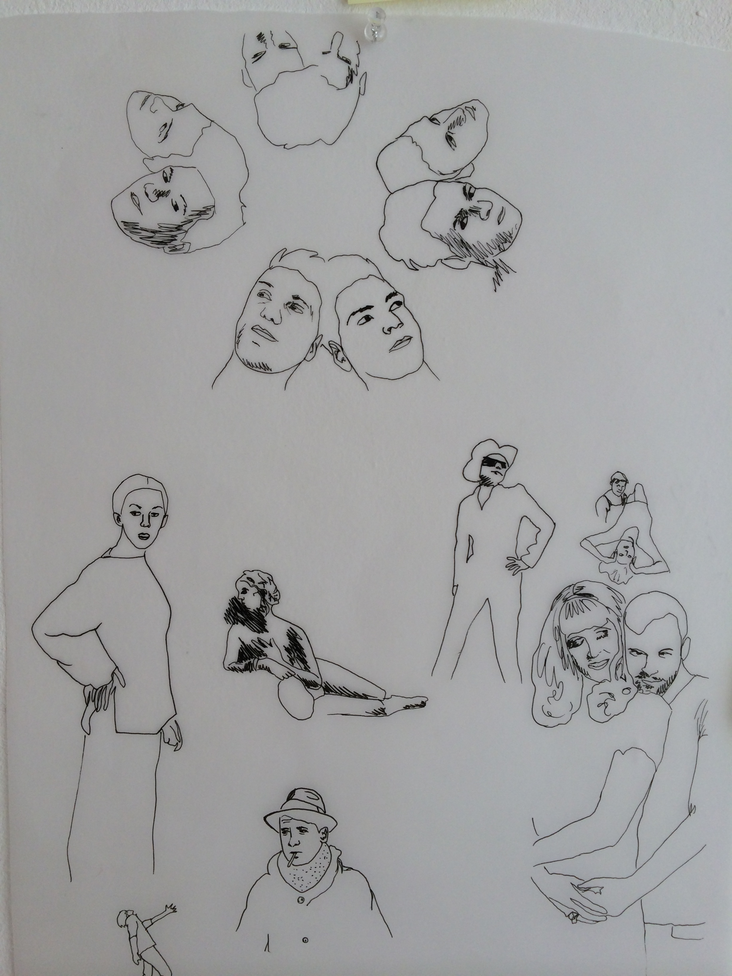 8/9/14 Tracing poses from magazines