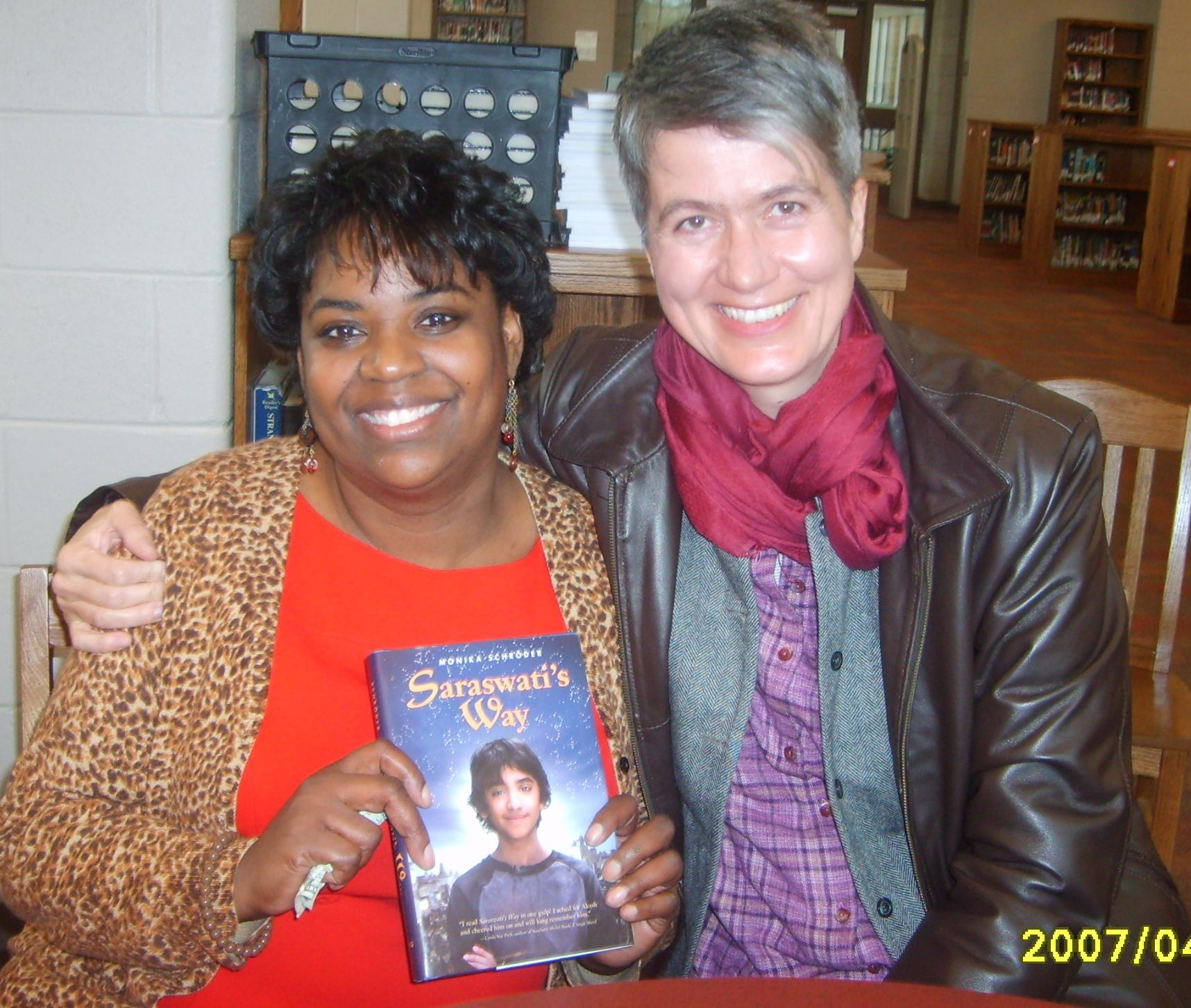 With the wonderful Kecia Hopper who invited me.
