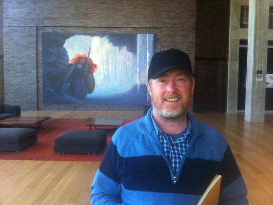 Jamie Baker, hard at work at Pixar studios