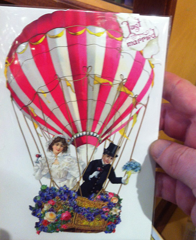 """A """"Just Married"""" card we found at a stationary store"""