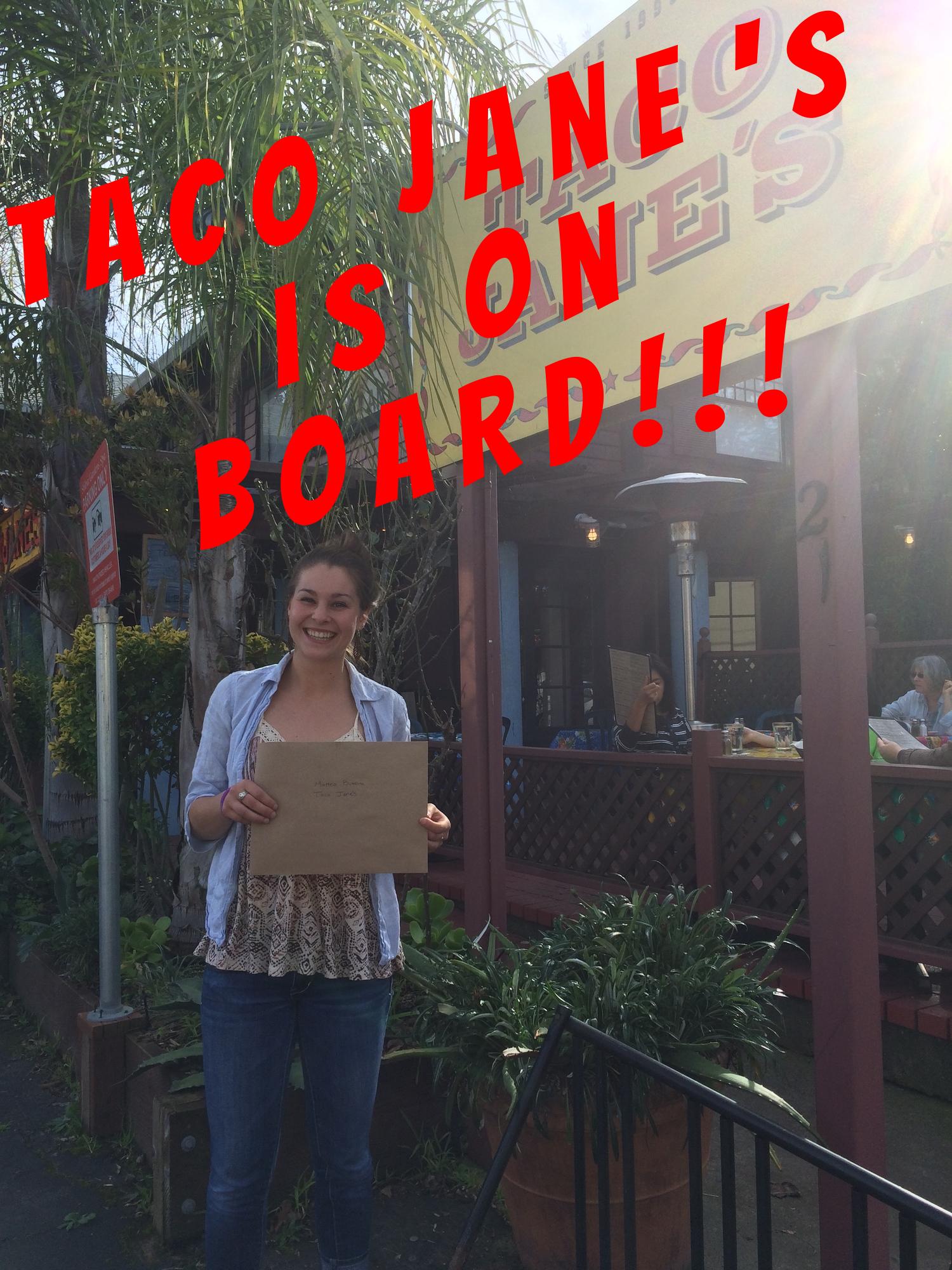 Beatrix at Taco Jane's