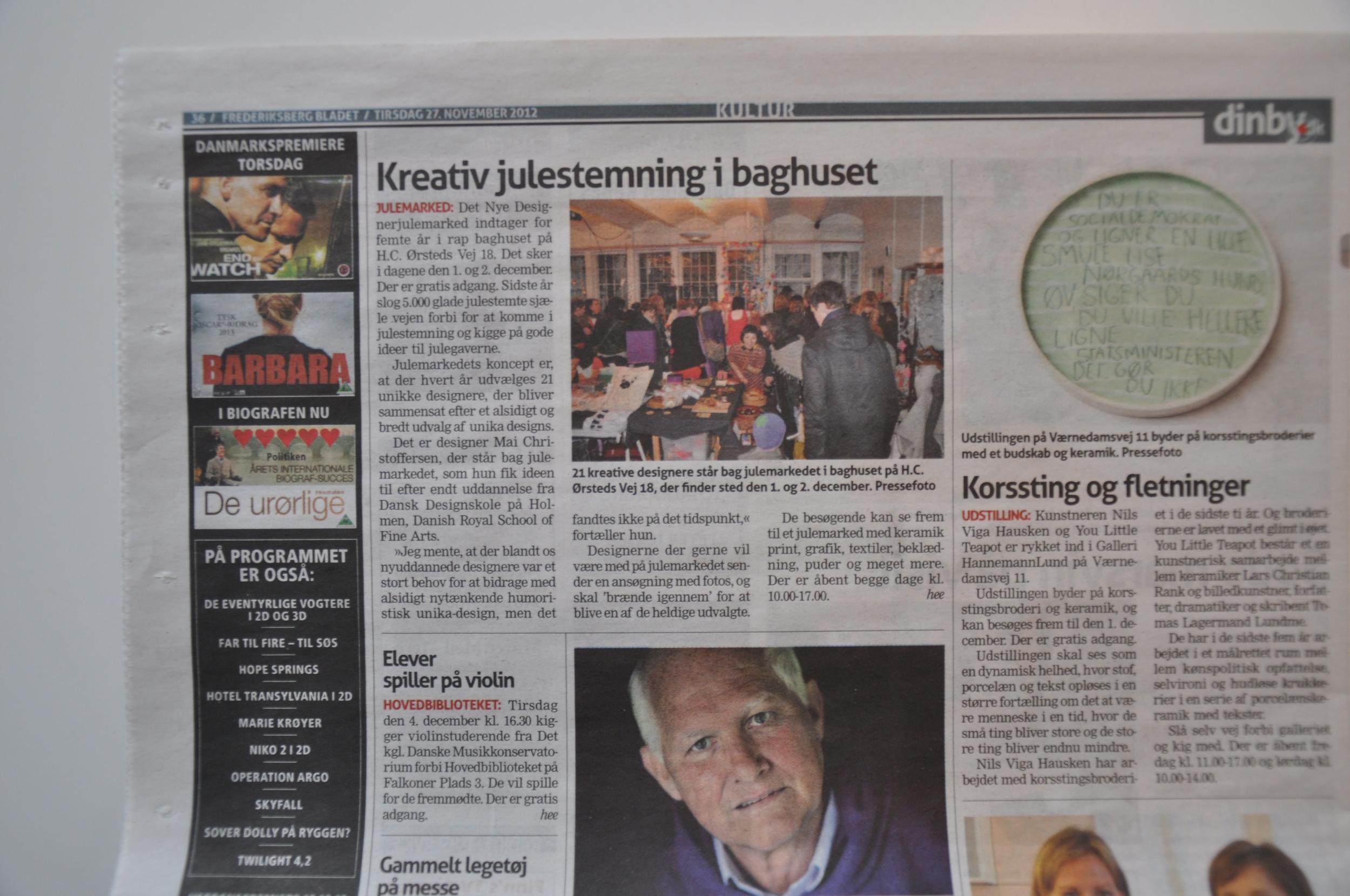 Frederiksberg Bladet 27. nov 2012