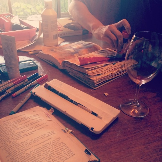 July brought a tradition far too long in the making: Sunday evening wine and art journaling.