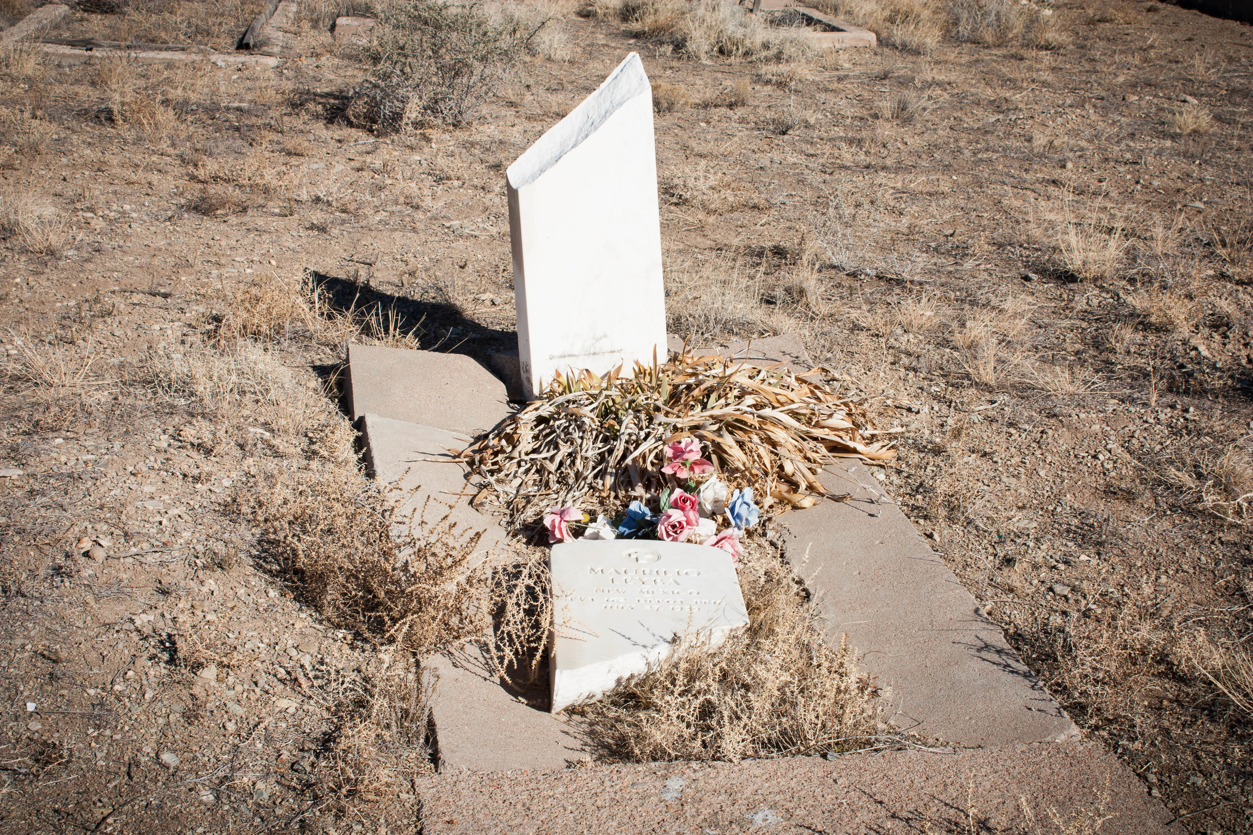 Broken Grave Stone, Cerrillos, NM