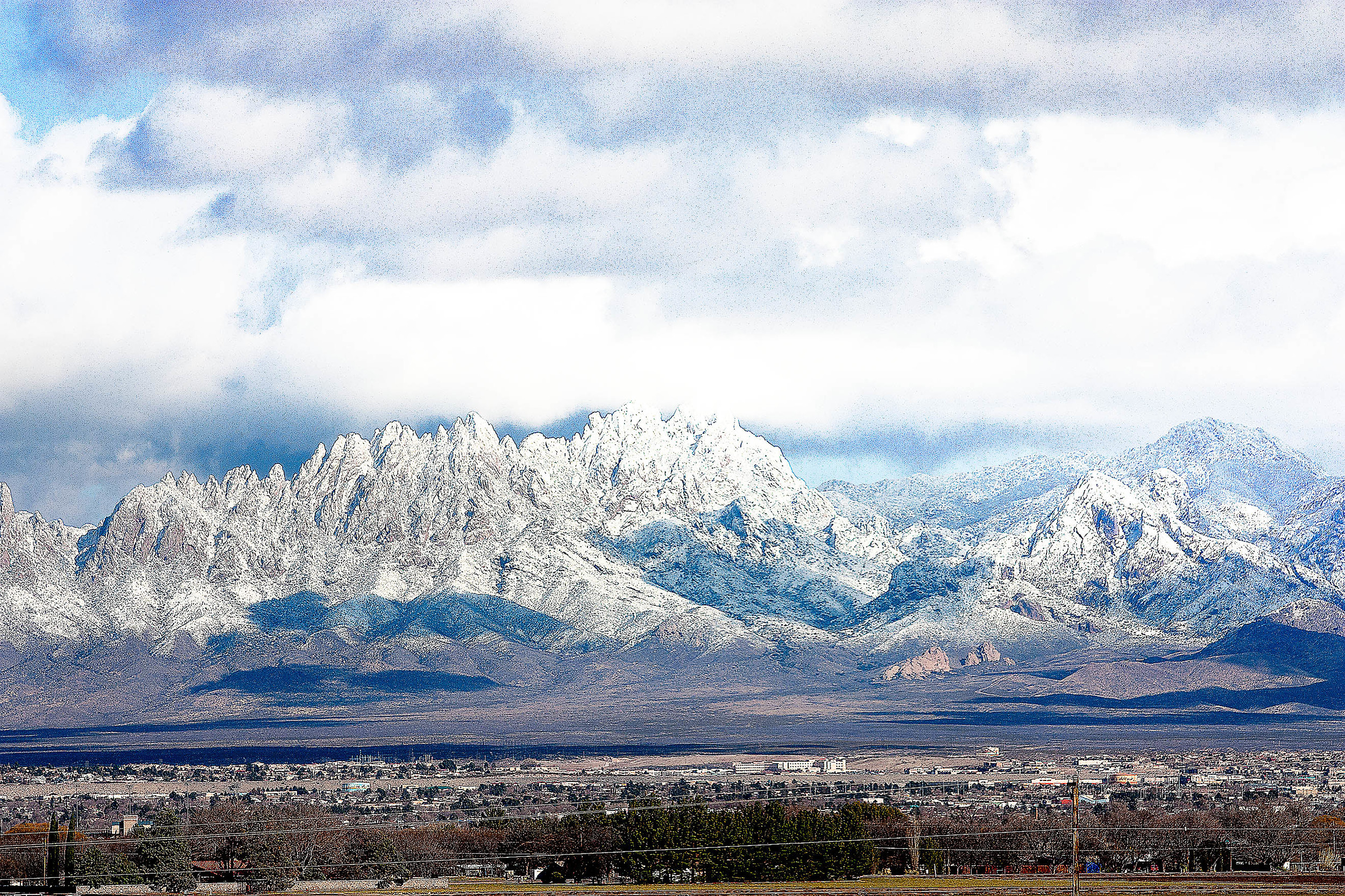 Snow on the Organs, Las Cruces, NM