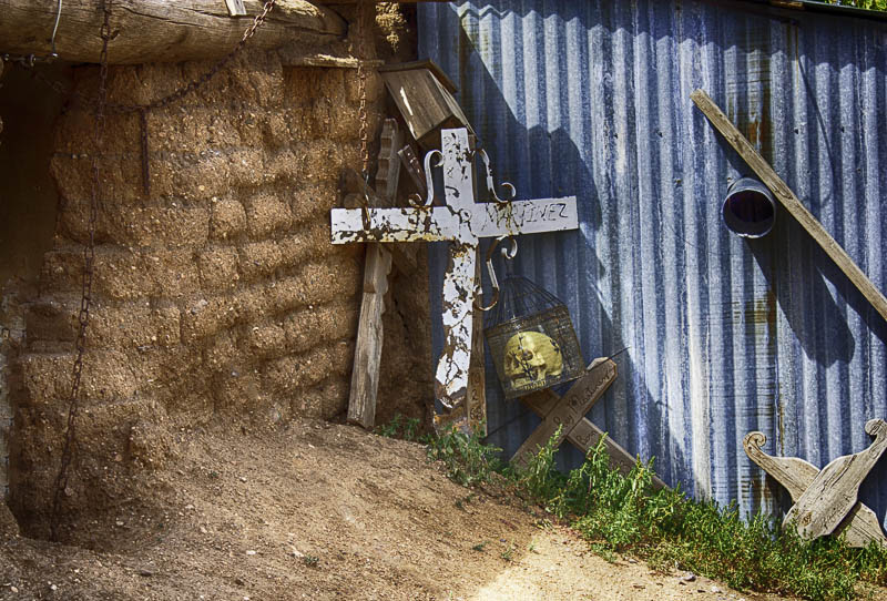 Backyard Crosses, Truchas, NM