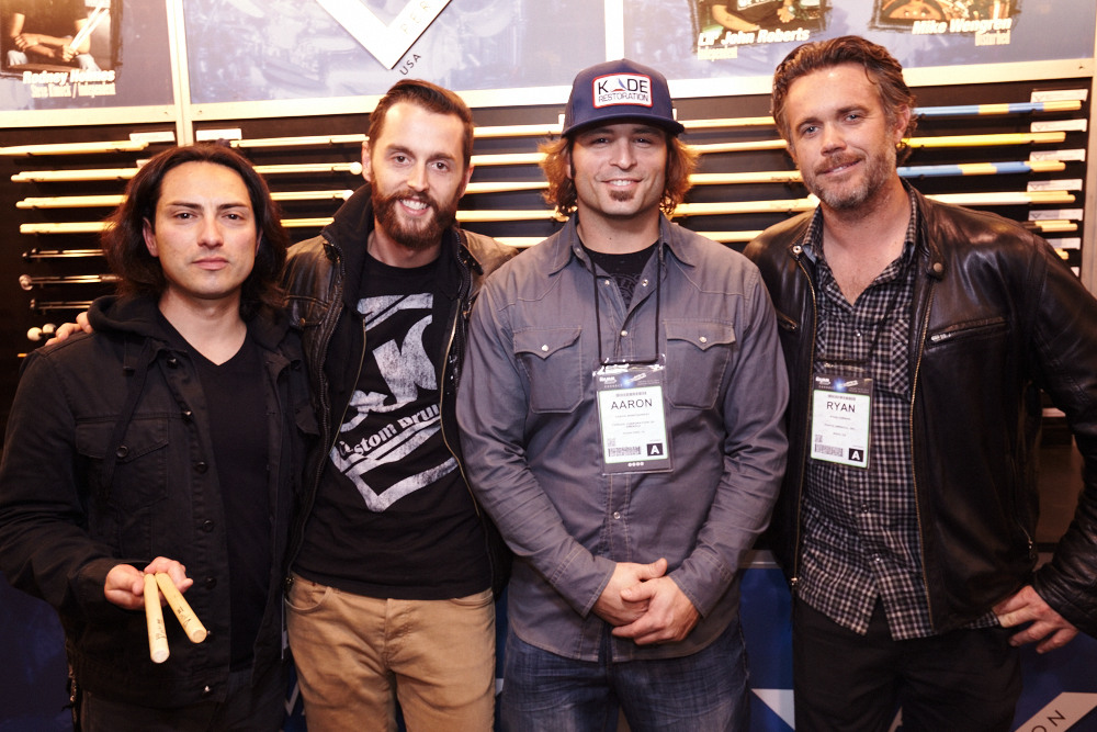 Benny Cancino, Andrew Cook [A Rocket to the Moon], Aaron Montgomery [Trapt] and Ryan Carman [Rocco Deluca and the Burden]