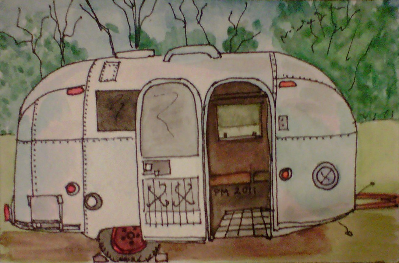 Airstream, watercolor, 2010