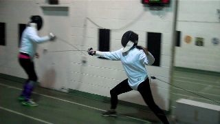 Dare Campaign, Stephen Lewis Foundation fencing Toronto with Melanie Ostry