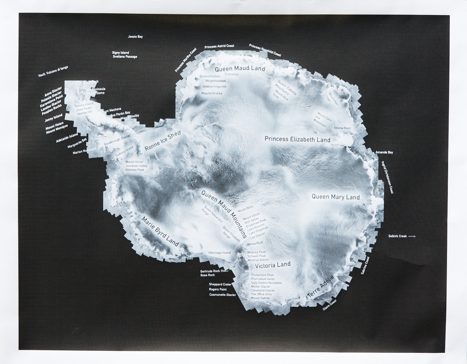 Prototype2 Antarctic Women Place names map  (official place names named for Antarctic women from scientists, patrons, daughters, queens, support staff, etc), Scientific Committee on Antarctic Research Open Science Conference, presented in Malaysia Aug 22, 2016 at Wikibomb Antarctic Women event to launch 75+ new or updated bios on women scientists in Antarctica. Additions? email: carol @ caroldevine.org