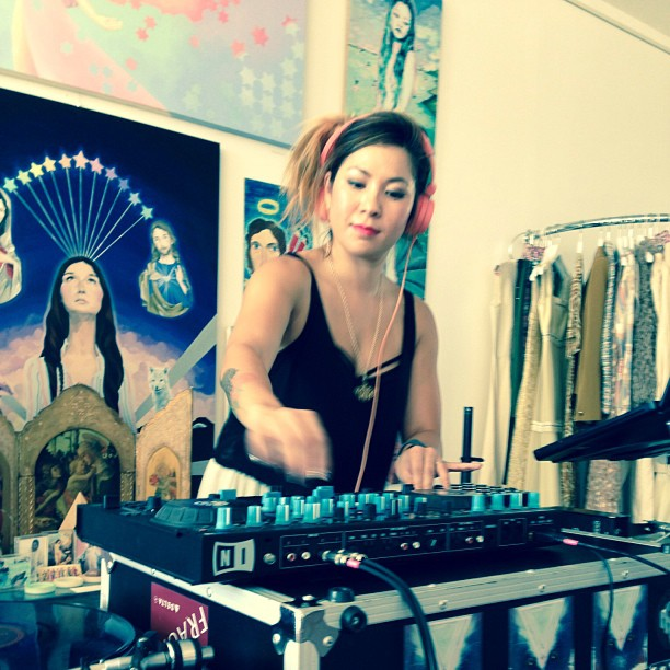 ChoBot spinning at The Quest by Hayley Starr, which hosted an all-girls lineup of DJs for the day. (Photo by ChoBot via  Instagram )