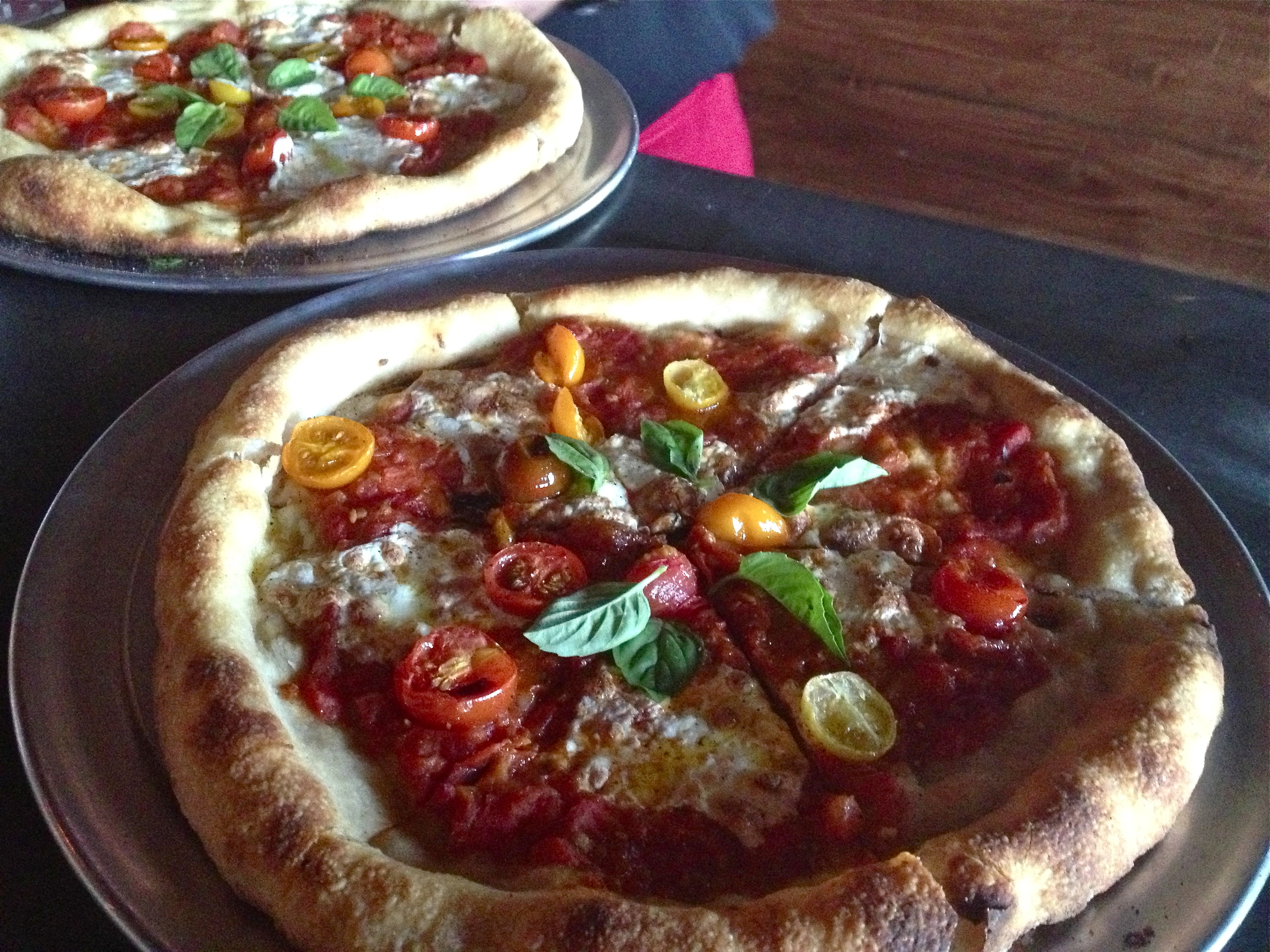The Kinney has roma tomatoes, sweet cherry tomatoes, mozzarella and basil. (Photo by Nicole Reed)