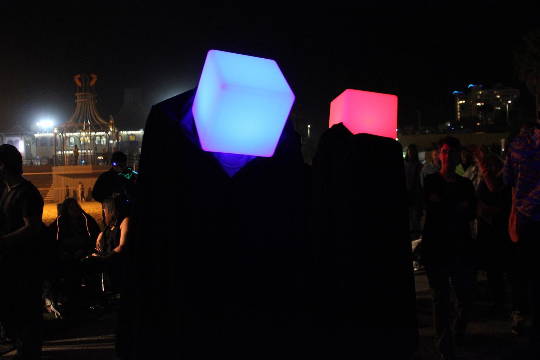 Glow Santa Monica. (Photo by Glennie Rabin)