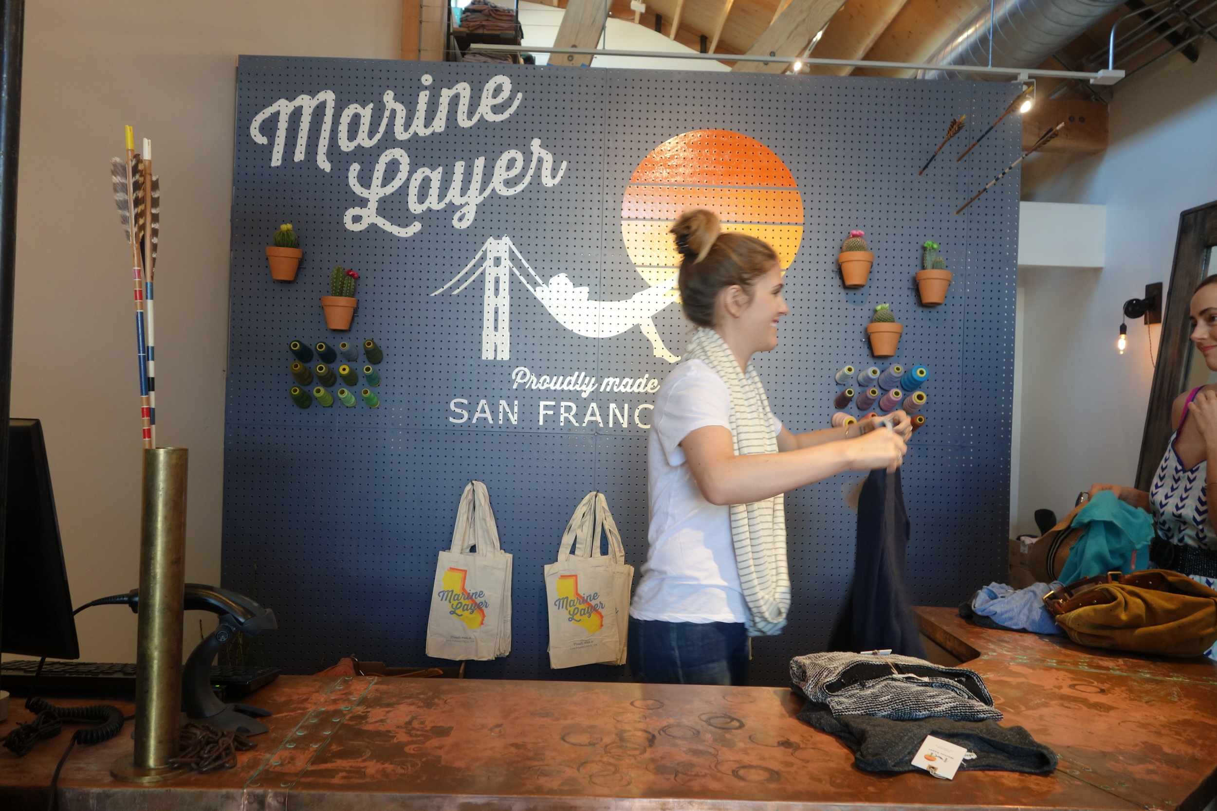 Marine Layer, a clothing boutique on Abbot Kinney, opens just in time for the festival. (Photo by Nicole Reed)