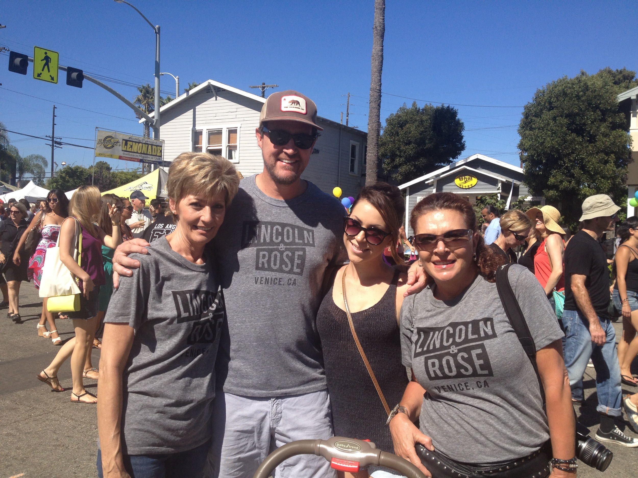 Friends and family looking fab in their L&R tees! (Photo by Nicole Reed)