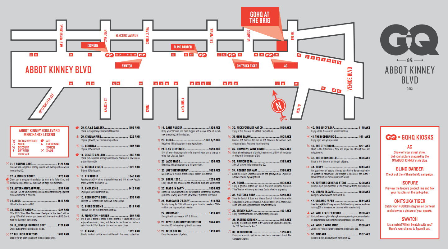 Map by  GQ on Abbot Kinney 2013 .