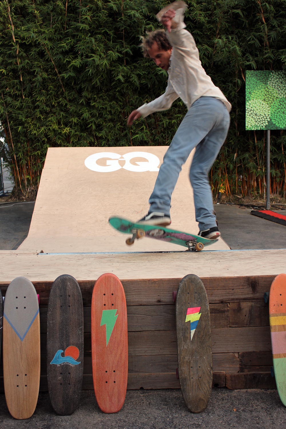 #GQHQ skate zone at The Brig's lot party. (Photo by Glennie Rabin)