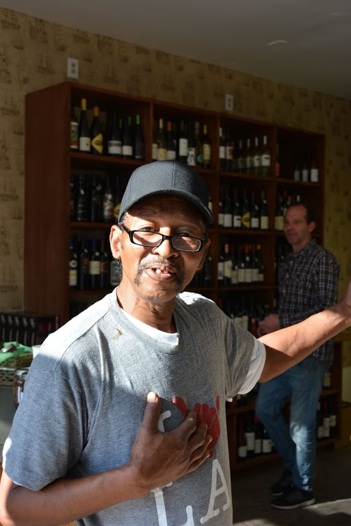 Greeting customers with his cheerful smile is Venice native Alfred Norman. ( Photo by Angelina Attwell )