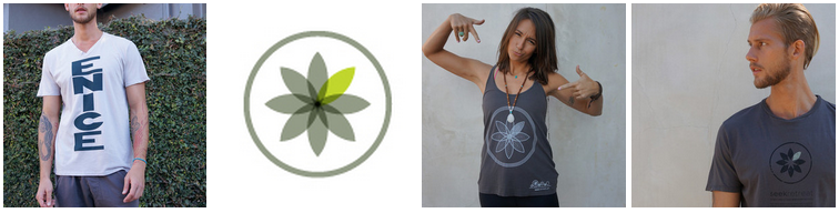 Seek Retreat tees and tanks  with signature flower compass logo were designed by president and co-founder John Mullin. ( Photos courtesy Seek Retreat )