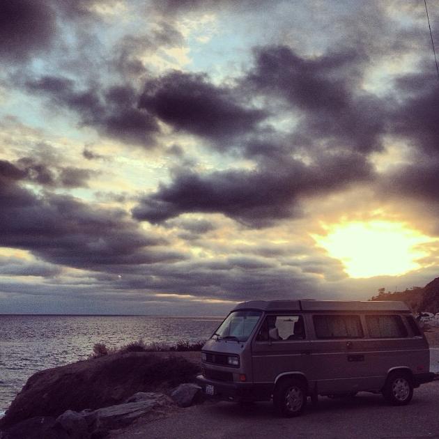 Clouds cruising in at Zuma Beach. ( Photo by  @pcwitte  via Instagram )