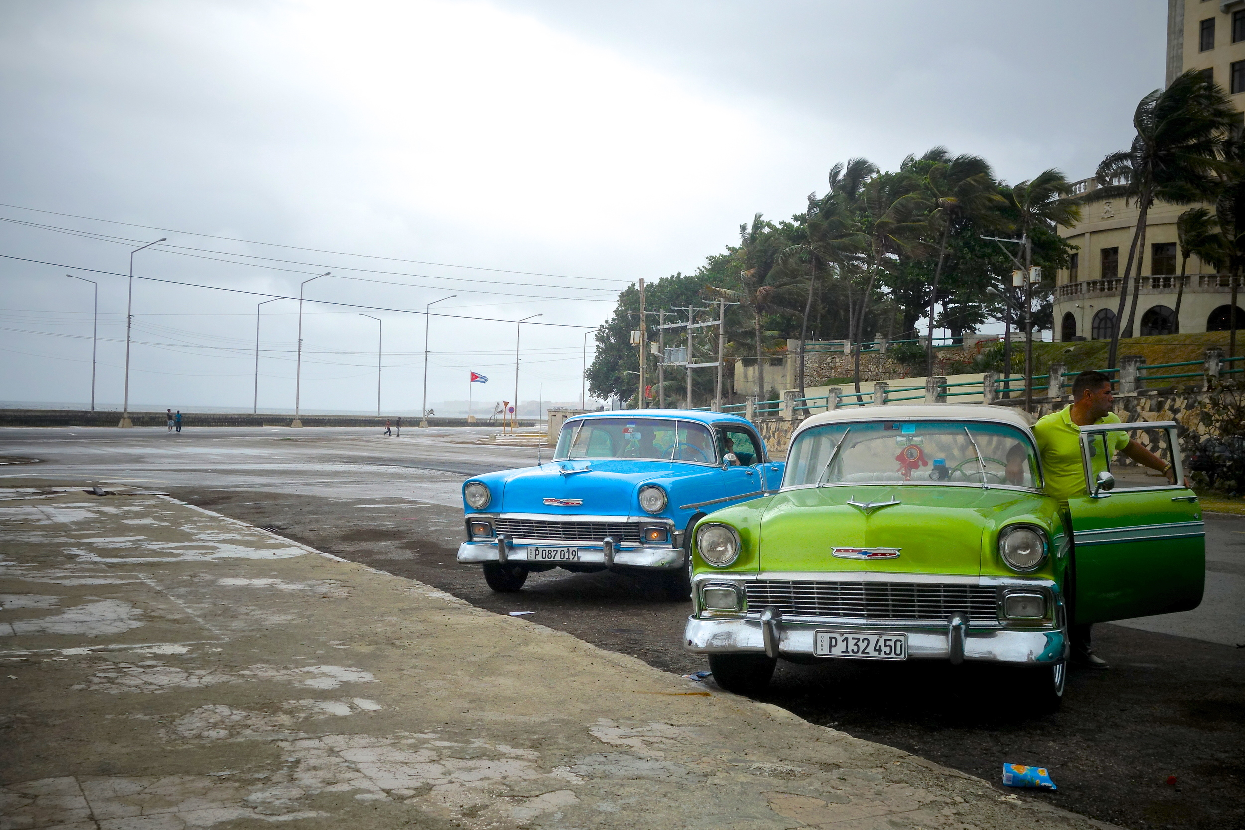 We stopped near the Malecon, a seawall along the Havana coastline, to see some of the historic hotels that overlook the Atlantic north toward the U.S.