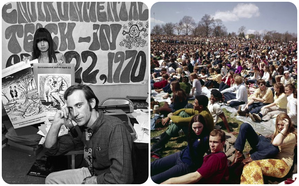 Photos from the first Earth Day, April 22, 1970. ( Photo courtesy AP )