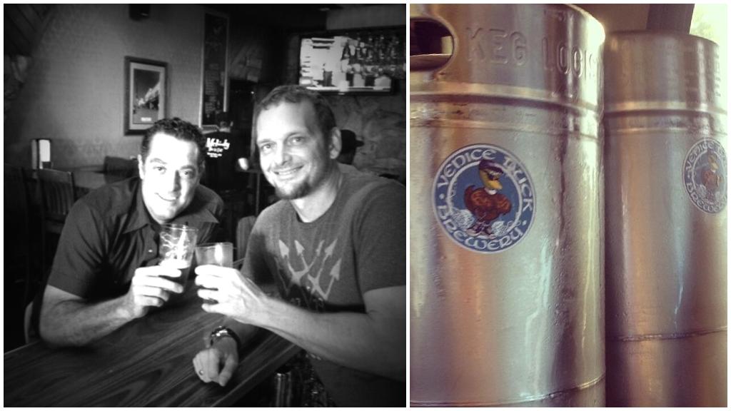 Venice Duck Brewery's first keg.