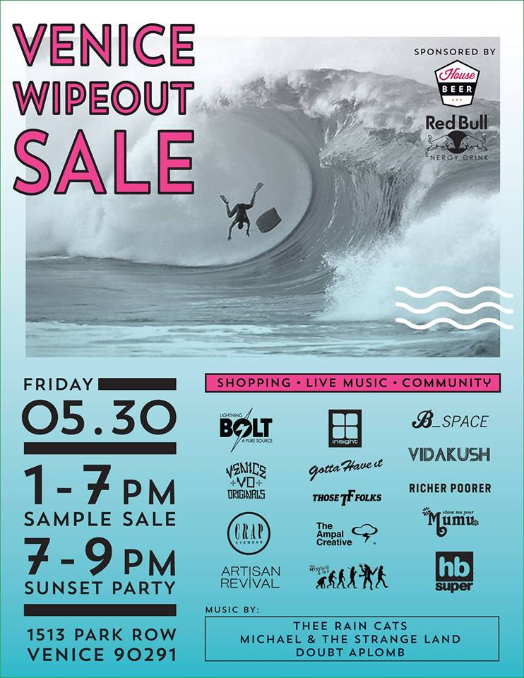 Venice Wipeout Sale - Lightning Bolt