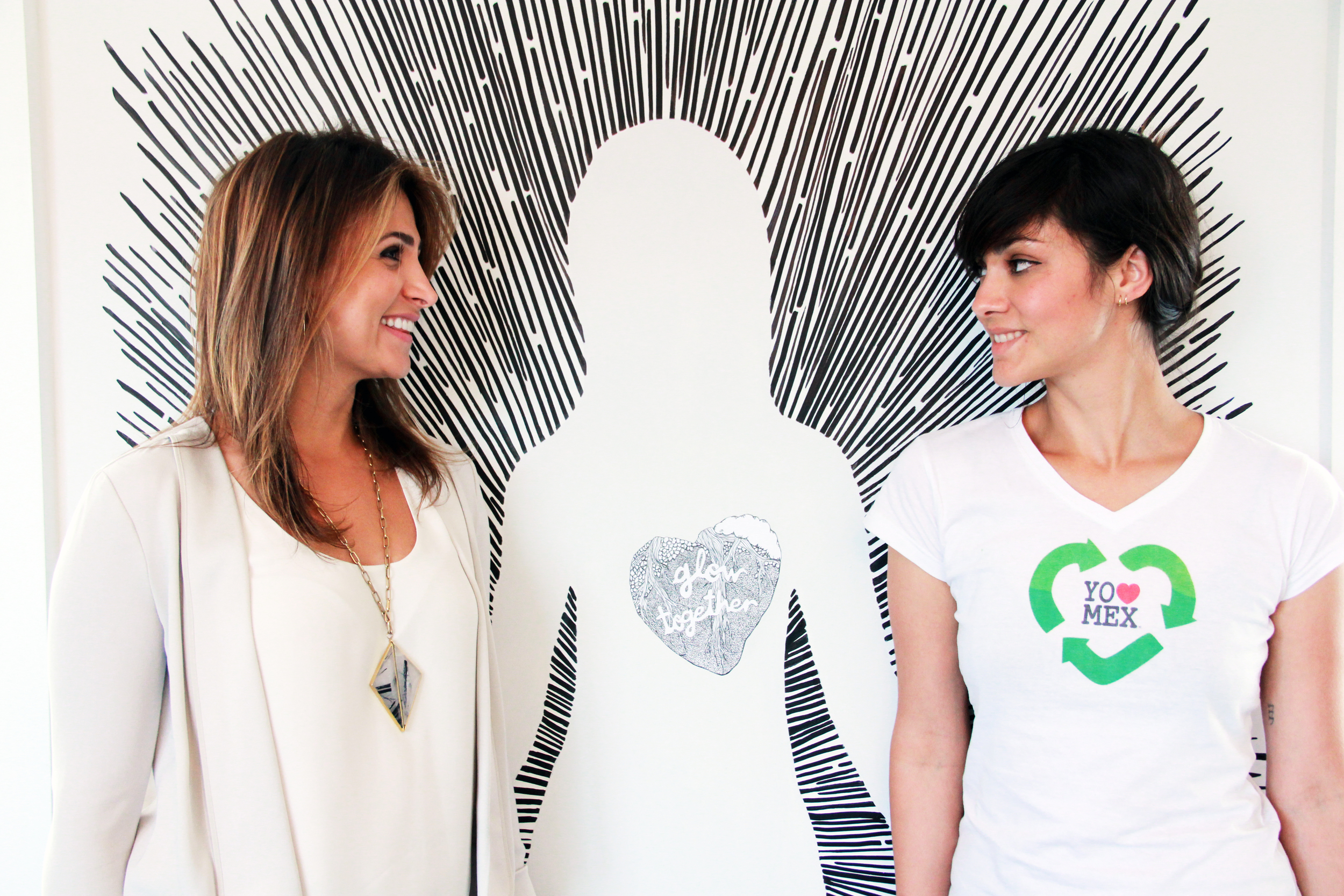 Mally Chakola with Venice muralist Diana Garcia.