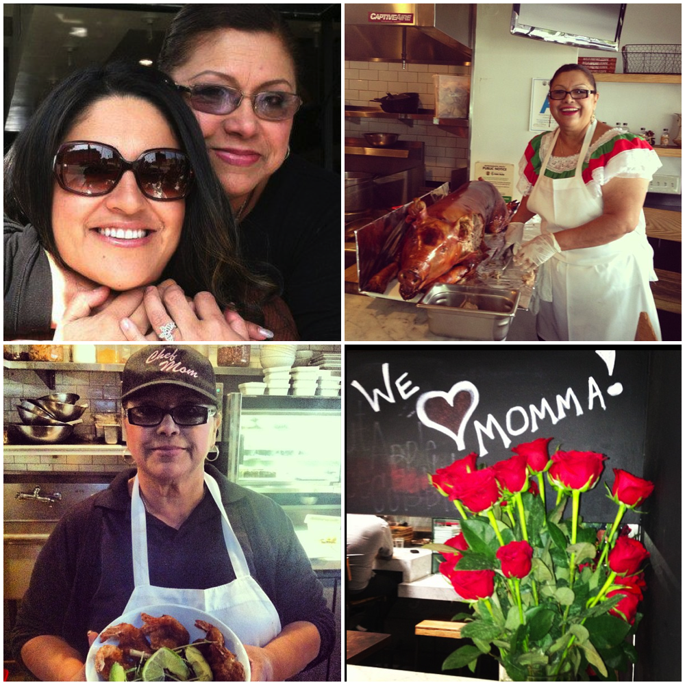 Consuelo Hermosillo, better known as Chef Momma, with Oscar's sister Yvonne who runs operations.